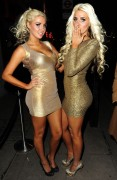 Kristina and Karissa Shannon Leaving the DSTRKT Nightclub in London 7th February x13