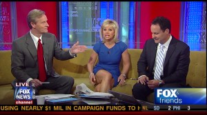 Gretchen Carlson - Up the Skirt White Panties 4-14-12